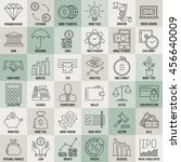 modern thin line icons set of... | Shutterstock .eps vector #456640009