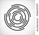 labyrinth   abstract business... | Shutterstock . vector #456642529