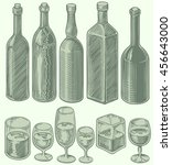 alcohol. design set. hand drawn ... | Shutterstock .eps vector #456643000