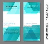 vector brochure flyer design... | Shutterstock .eps vector #456645610