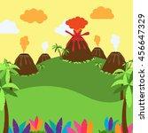 cute cartoon vector background... | Shutterstock .eps vector #456647329