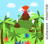 cute cartoon vector background... | Shutterstock .eps vector #456647338