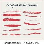set of ink vector brushes....   Shutterstock .eps vector #456650443