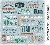 quotes  wishes and greetings...   Shutterstock .eps vector #456651064