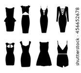 dresses. vector. little black... | Shutterstock .eps vector #456652678