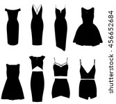 dresses. vector. little black... | Shutterstock .eps vector #456652684