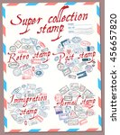 super collection stamp. retro ... | Shutterstock .eps vector #456657820