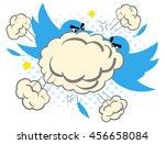 cartoon illustration of two... | Shutterstock .eps vector #456658084