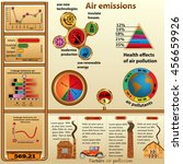infographics about air... | Shutterstock .eps vector #456659926
