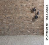 Modern Empty Brick Wall And...