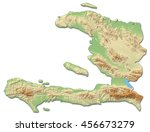 relief map of haiti   3d... | Shutterstock . vector #456673279