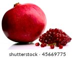 pomegranate on white | Shutterstock . vector #45669775