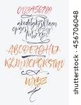 vector calligraphic alphabet... | Shutterstock .eps vector #456706048