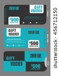 set of vector blank gift... | Shutterstock .eps vector #456712150