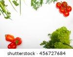 food. vegetables. salad for... | Shutterstock . vector #456727684
