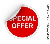special offer text red circle... | Shutterstock . vector #456745606