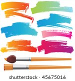 brushes and grunge painted... | Shutterstock .eps vector #45675016