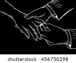 wedding rings. sketchy style. | Shutterstock .eps vector #456750298