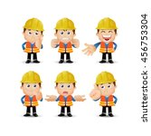 people set   profession   worker | Shutterstock .eps vector #456753304