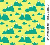 seamless vector pattern with... | Shutterstock .eps vector #456763810