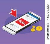 mobile advertising social media ... | Shutterstock .eps vector #456779230