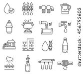water purification icon set.... | Shutterstock .eps vector #456793603