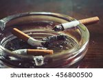 cigarette with ashtray on... | Shutterstock . vector #456800500
