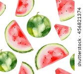 watercolor pattern with... | Shutterstock . vector #456821374