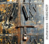 In Oman The Old Door Metal...