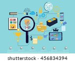 vector search business... | Shutterstock .eps vector #456834394
