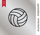 web line icon. volleyball   Shutterstock .eps vector #456834499