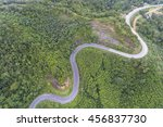 aerial view of winding road... | Shutterstock . vector #456837730