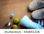 healthy fitness concept with... | Shutterstock . vector #456841228