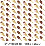cute pattern with ice cream.... | Shutterstock .eps vector #456841630