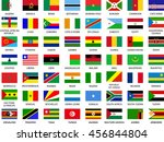 big collection of african flags ... | Shutterstock .eps vector #456844804