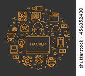 concept hackers and internet... | Shutterstock . vector #456852430