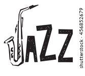 jazz festival lettering. music ... | Shutterstock .eps vector #456852679