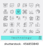 set of technology icons.... | Shutterstock .eps vector #456853840