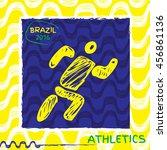 summer sport icon pictogram.... | Shutterstock .eps vector #456861136