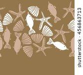 seamless  horizontal   pattern... | Shutterstock .eps vector #456863713