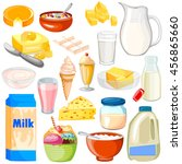vector illustration of dairy... | Shutterstock .eps vector #456865660