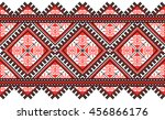 embroidered old handmade cross... | Shutterstock .eps vector #456866176