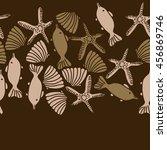seamless  horizontal   pattern... | Shutterstock . vector #456869746