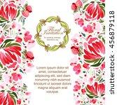 vintage delicate invitation...   Shutterstock .eps vector #456879118