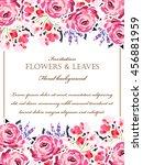 vintage delicate invitation... | Shutterstock .eps vector #456881959