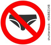 forbidden sign with bikini icon ... | Shutterstock .eps vector #456882148