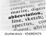 Small photo of Abbreviation