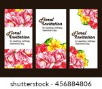 romantic invitation. wedding ... | Shutterstock .eps vector #456884806