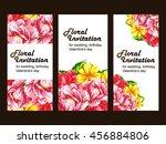 romantic invitation. wedding ... | Shutterstock .eps vector #456884806