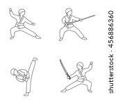 martial arts vector icons | Shutterstock .eps vector #456886360
